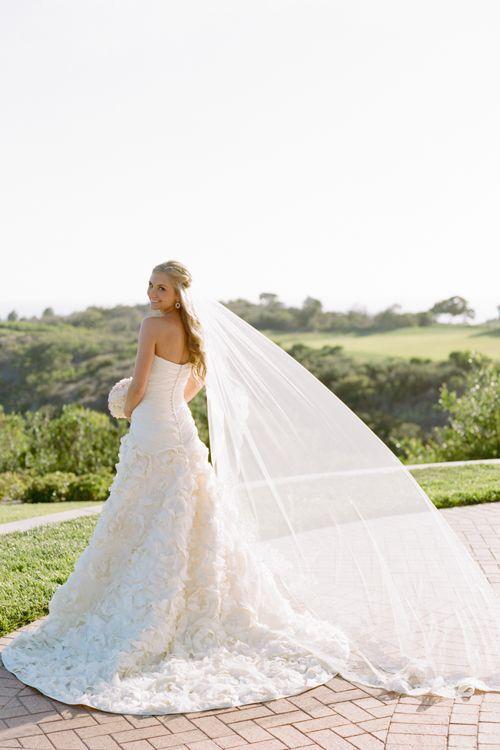 Wedding veil and hair