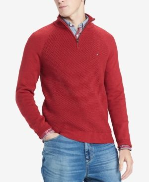 c3466d7db Tommy Hilfiger Men s Waffle Knit Quarter-Zip Sweater