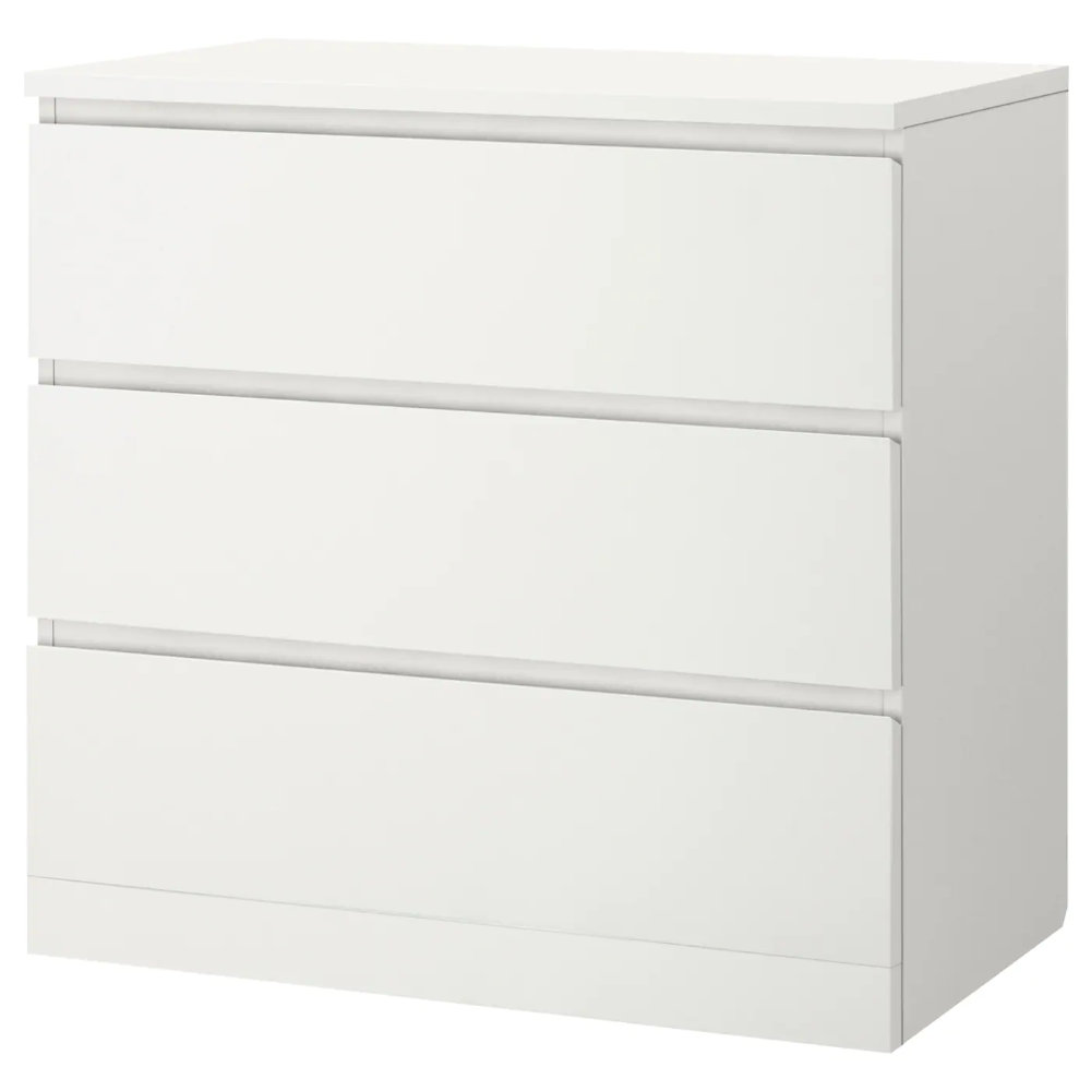 Malm 3 Drawer Chest White 31 1 2x30 3 4 Ikea In 2020 Ikea Furniture Hacks Ikea Malm Malm
