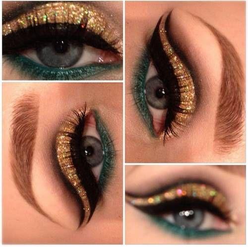 Maquiagem festa olhos verdes