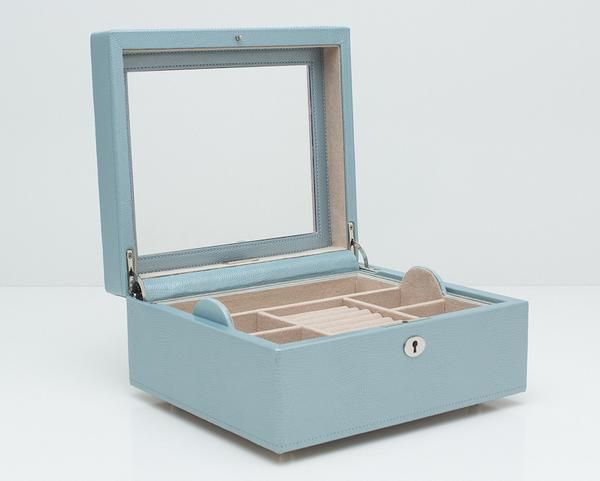 FREE SHIPPING on WOLF 315224 London Square Jewelry Box Ice With Lock