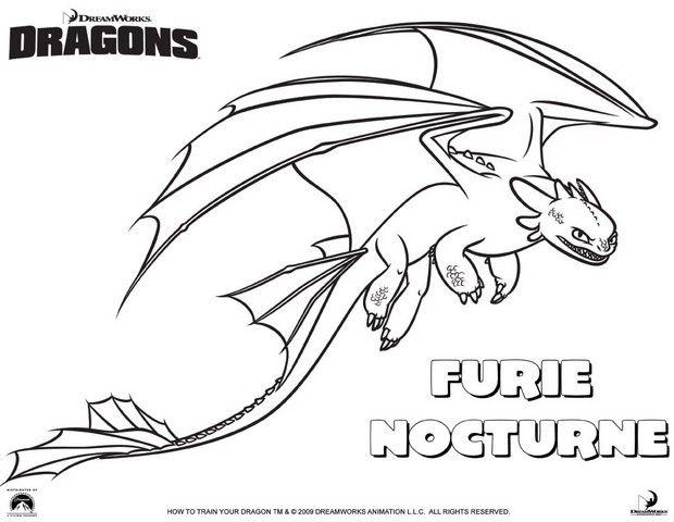 Coloriage furie nocturne coloriages pinterest furie coloriage et dragon - Dessin de bebe dragon ...