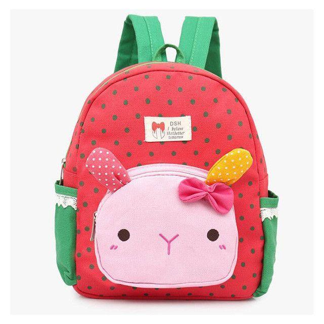 bdfdf9c91403 2017 cute Dot Bow Children school bags Cartoon Rabbit kindergarten baby  backpack high quality canvas girls Student shoulder bags