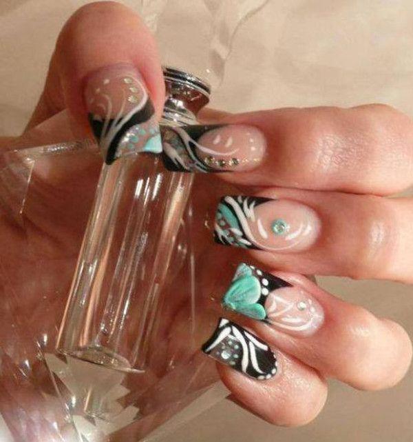 Elaborate Nail Design Nail Art Pinterest Nail Nail And Makeup