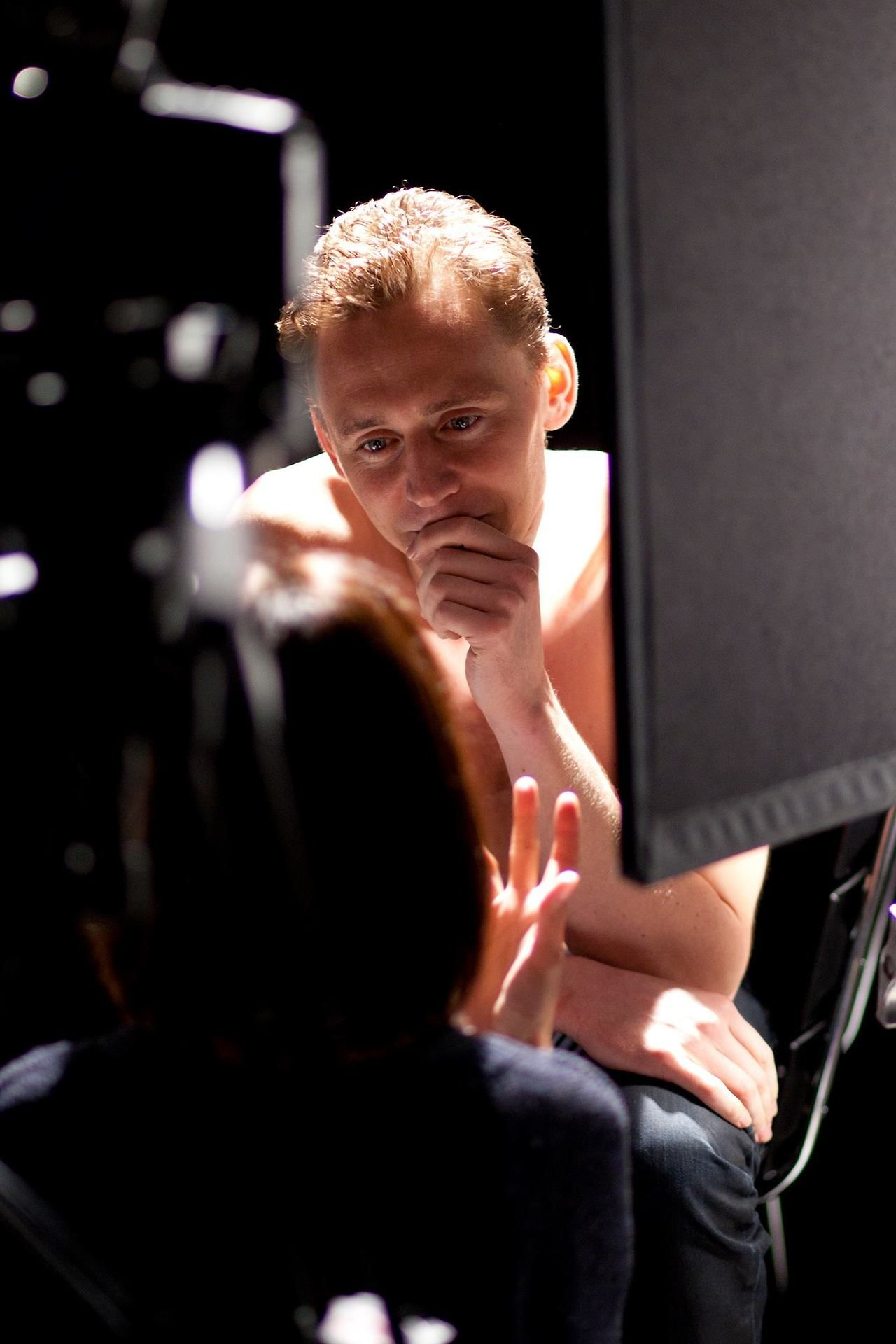 #TomHiddleston behind the scenes of Out of Darkness via Torrilla on Tumblr.