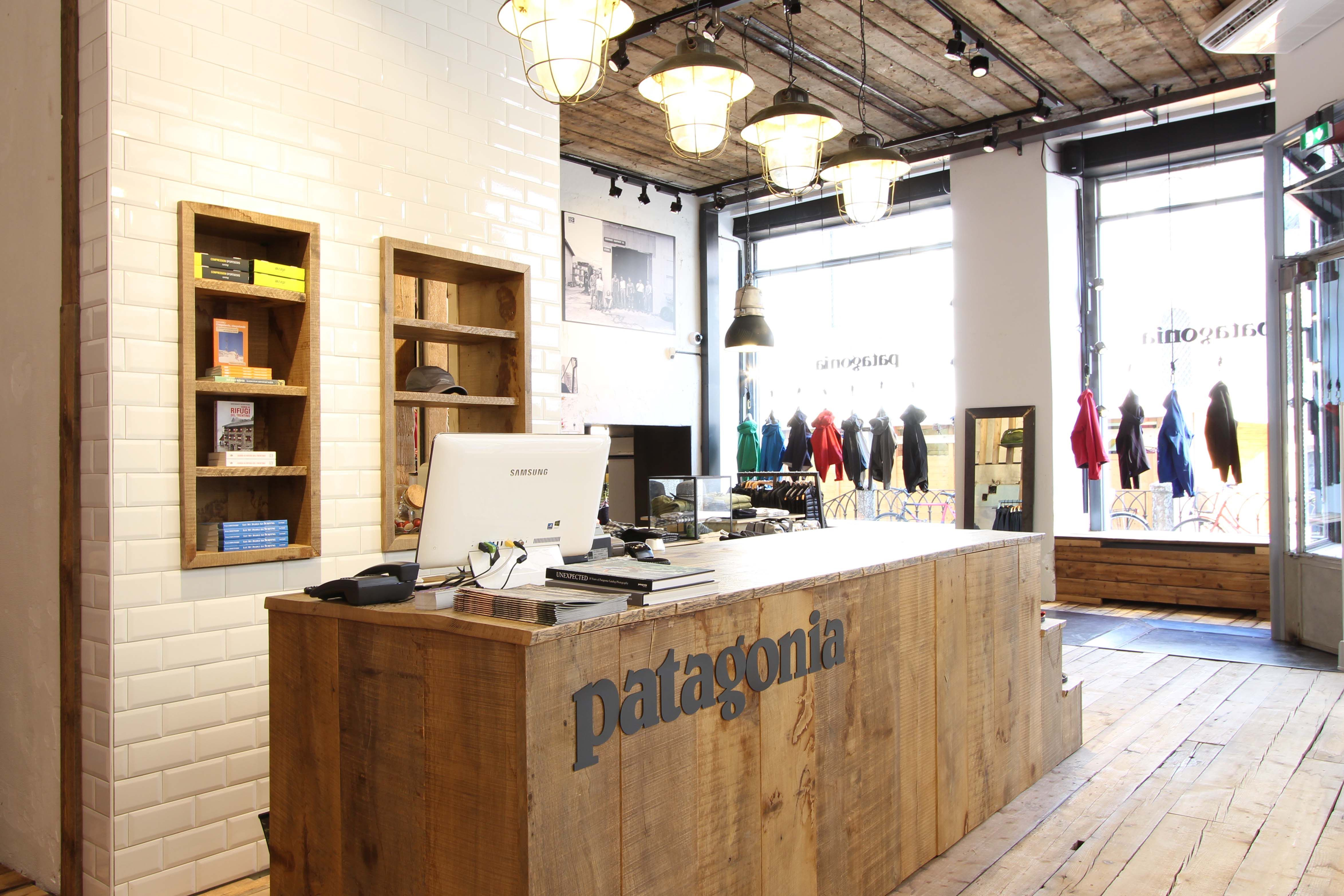 patagonia retail design interior design store trento concept design