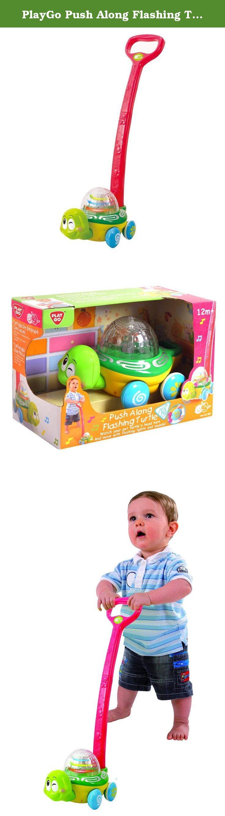 PlayGo Push Along Flashing Turtle Toy Have your pre walker learn