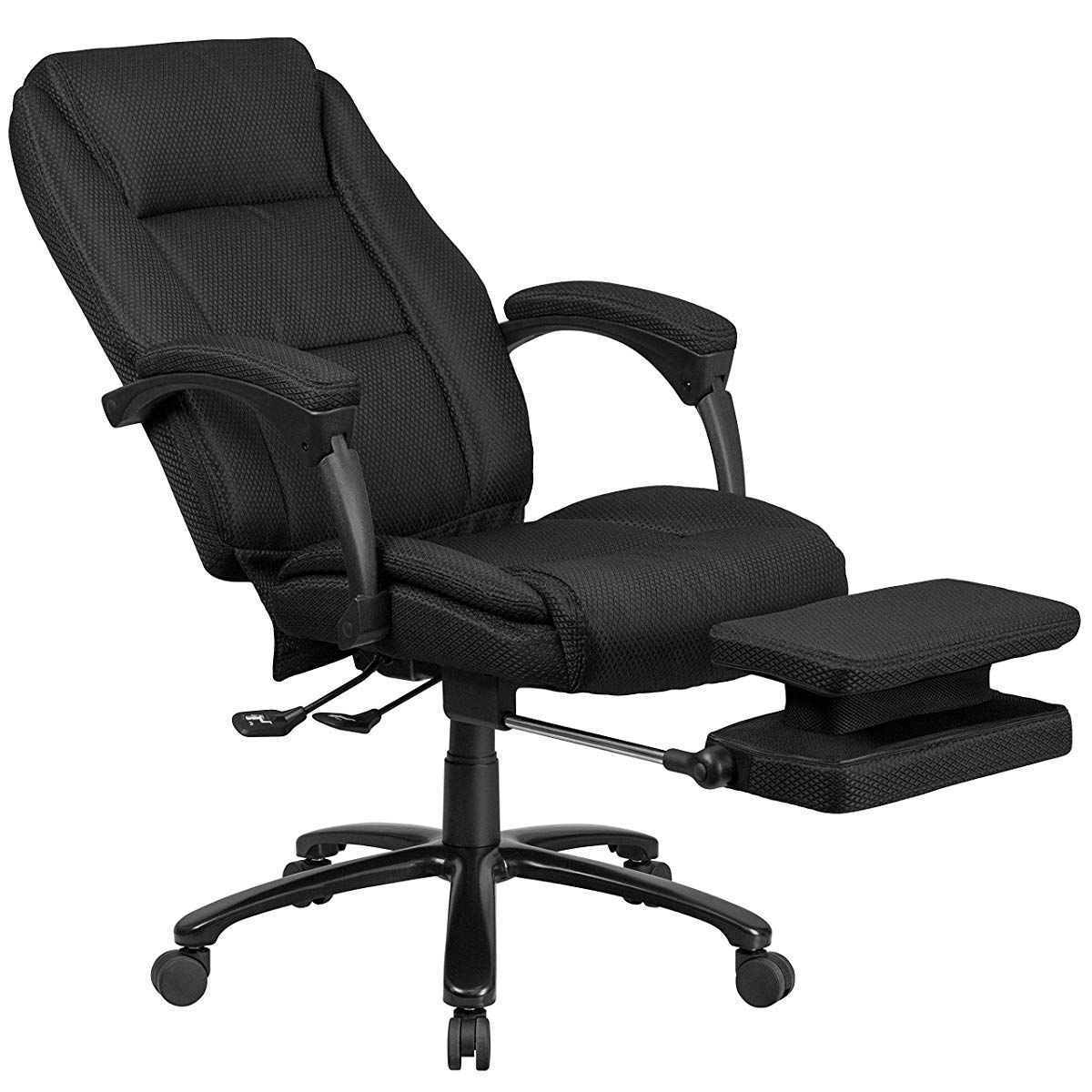 Flash Furniture High Back Black Fabric Executive Reclining