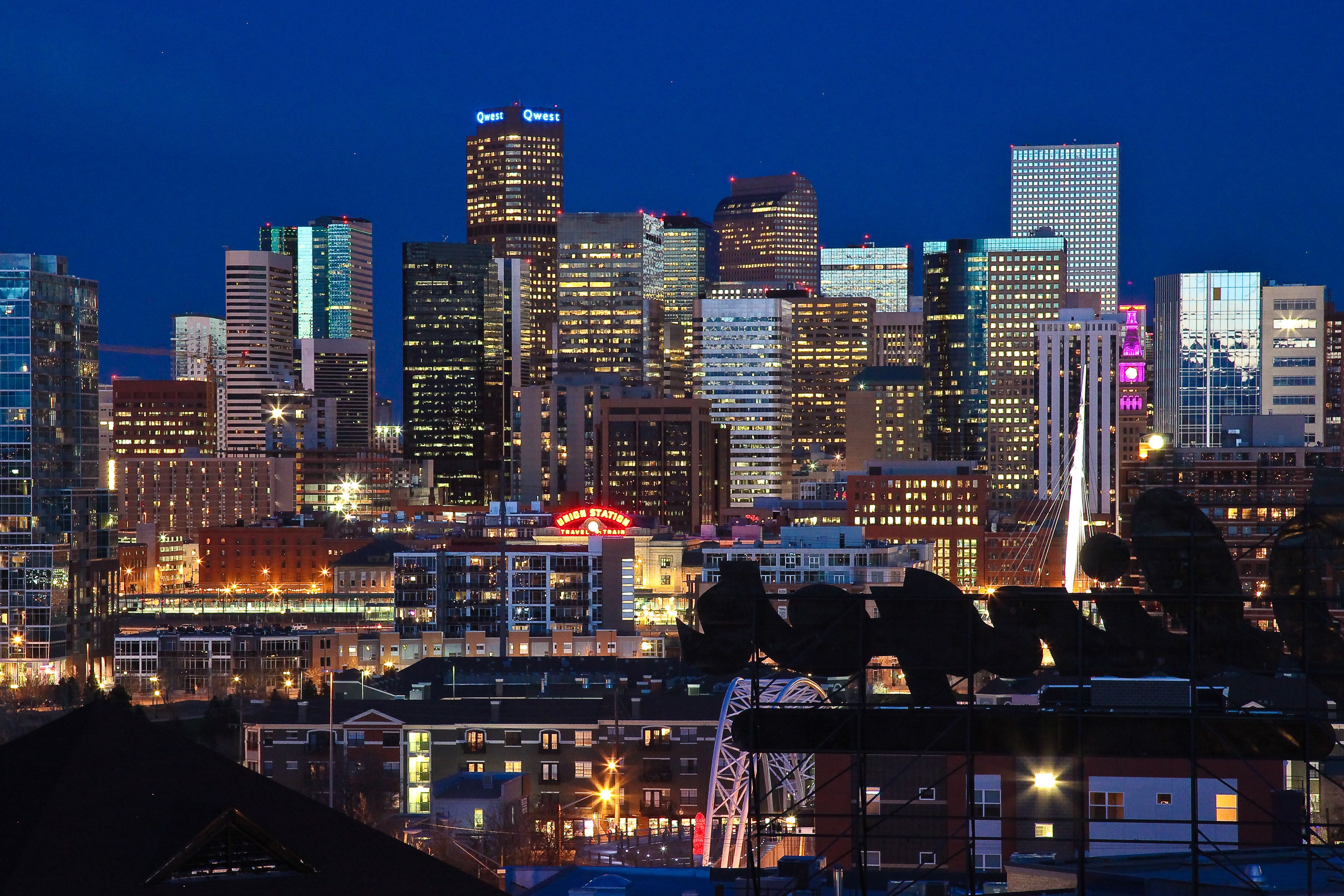 Denver officially the city and county of denver is the for Us city skylines photos