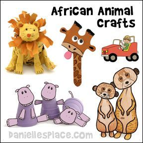 African Animal Crafts And Learning Activities For Children Animals