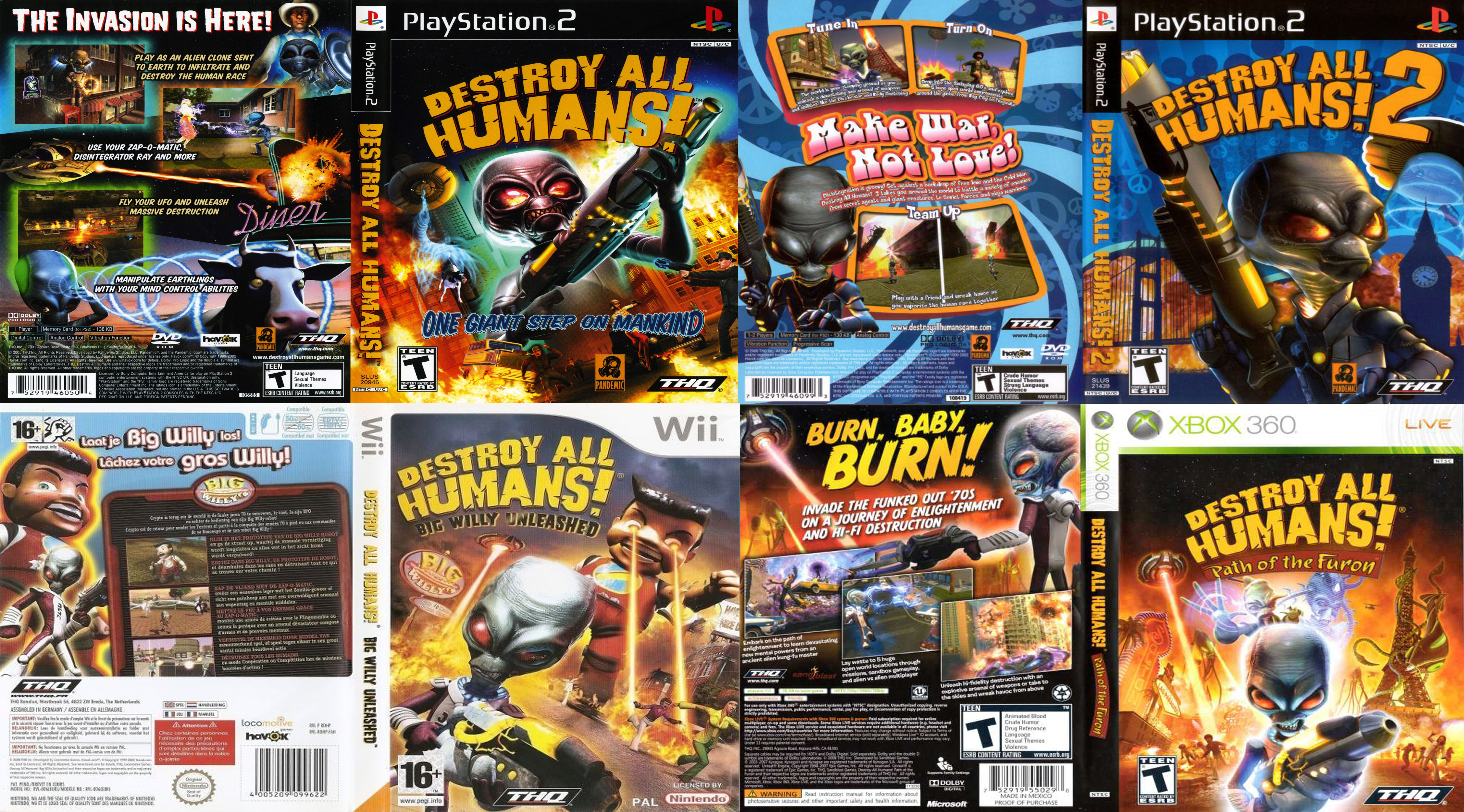 Destroy All Humans Human, Destroyed, Comic book cover