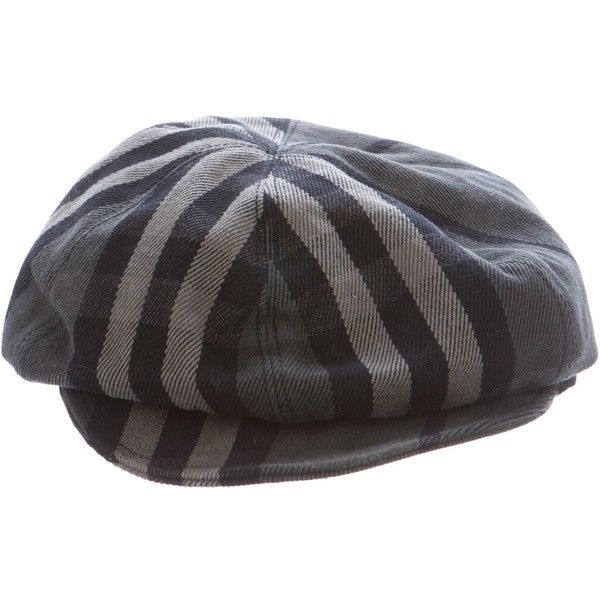 23b06c2f1cc Pre-owned Burberry Beat Check Newsboy Hat (165 CAD) ❤ liked on Polyvore  featuring accessories