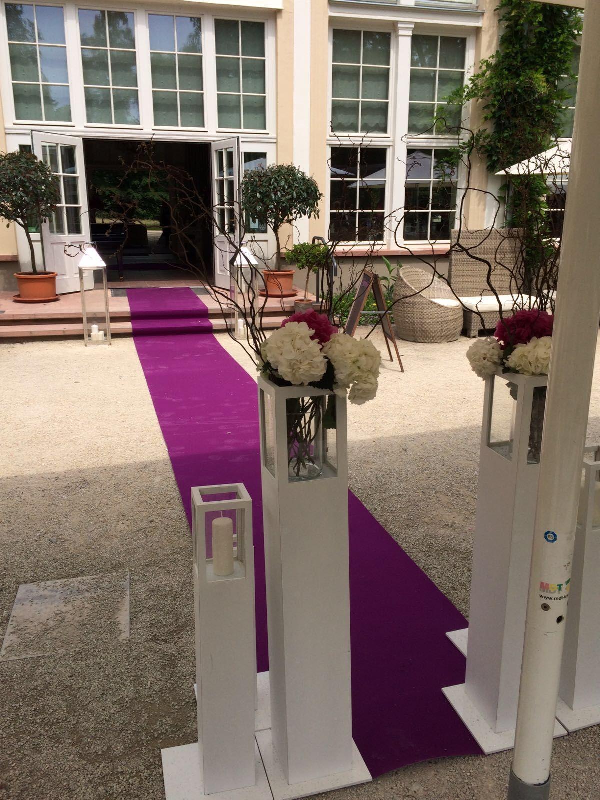 Hochzeitsdekoration in der Orangerie Bad Homburg Hier mit