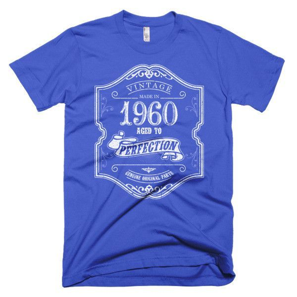 Made in 1960 Aged to perfection Short sleeve men's t-shirt