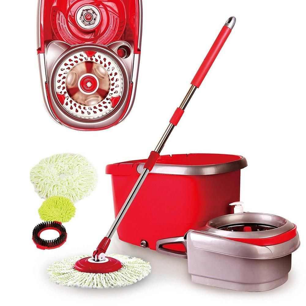 Spin Mop Bucket Set Stainless Steel Wring Rotation Drain