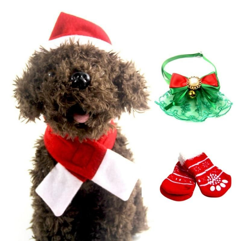 4pc Christmas Costume Christmas Dog Christmas Animals Pet