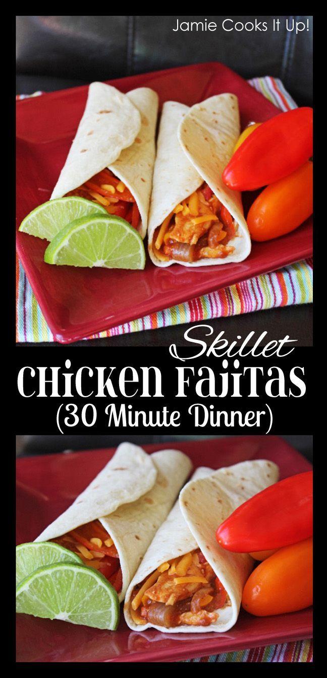 Skillet Chicken Fajitas 30 Minute Dinner Jamie S