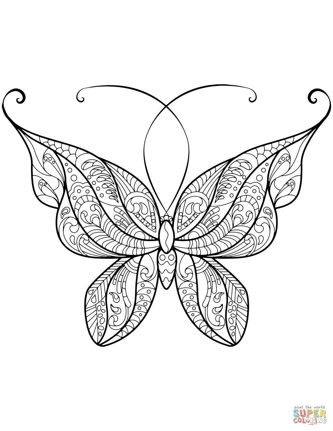 Printable Butterfly In 2020 Butterfly Coloring Page Butterfly