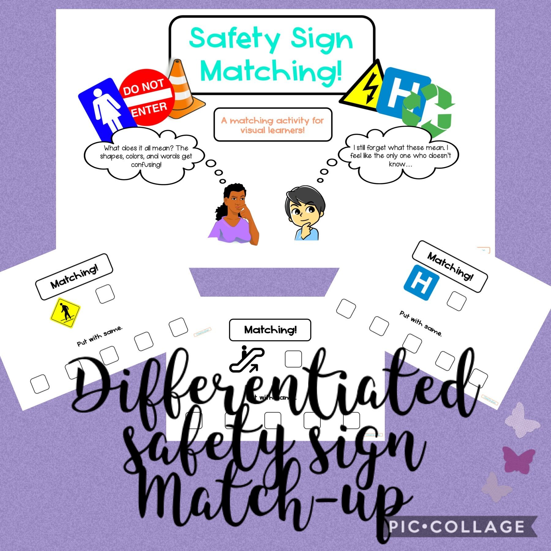 Differentiated Safety Sign Match Up In