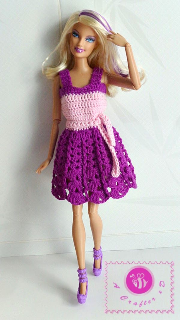 Fashion doll tank dress - free crochet pattern   Crochet - Toys ...
