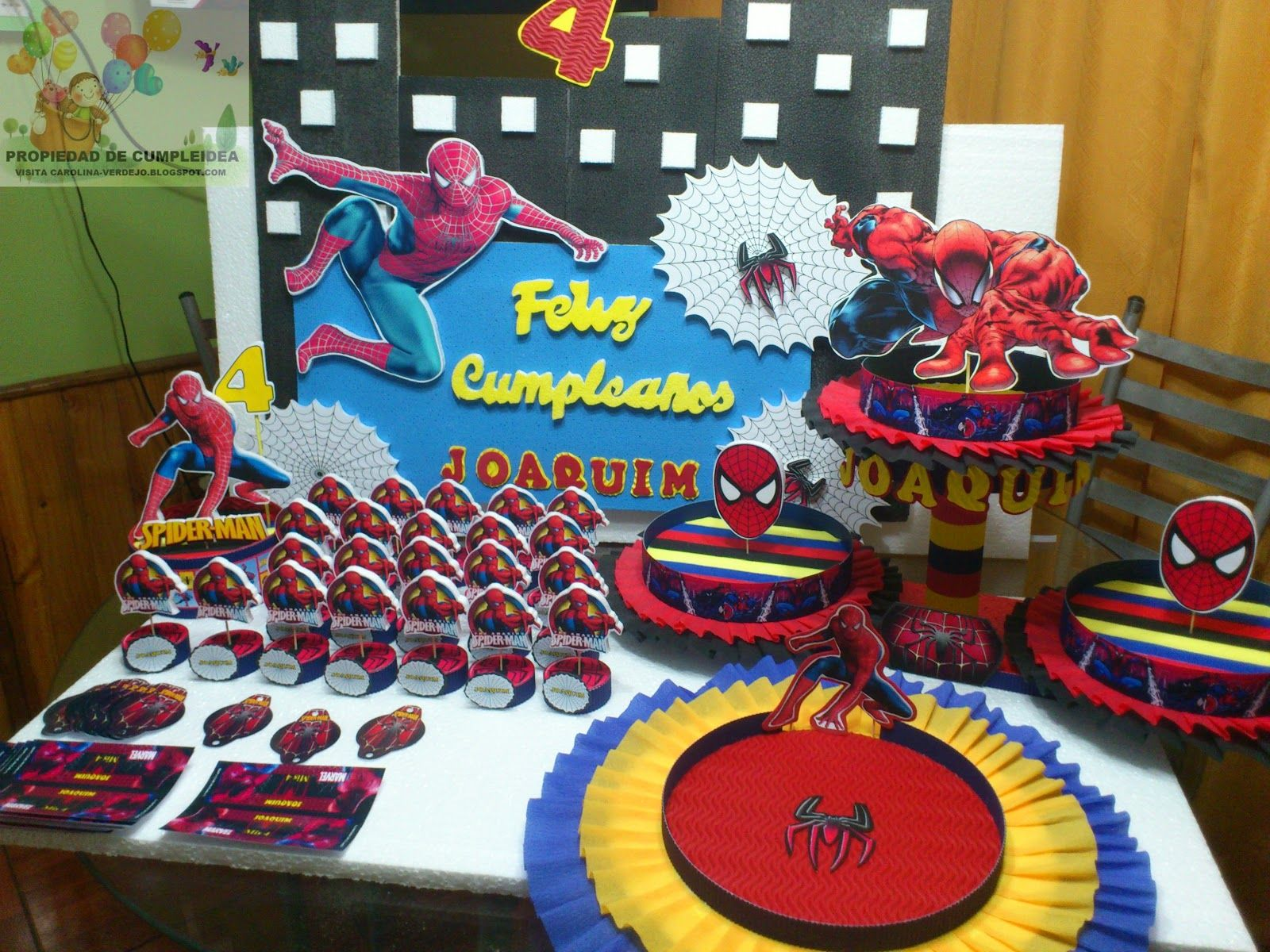 Decoraciones infantiles pack spiderman cumple 3 a os - Decoracion de aranas ...