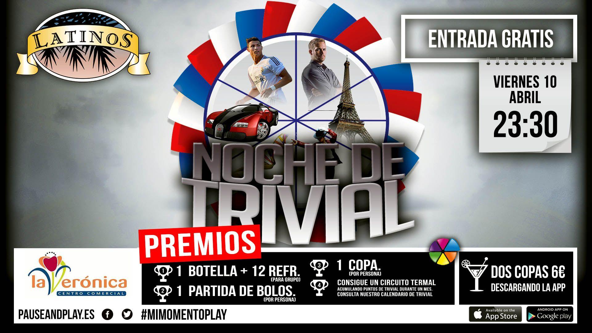Noche de Trivial en  Latino's. Seguiremos informando...
