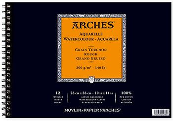 Arches Aquarelle Spiral Pad 26x36cm 300gsm Rough Http Www