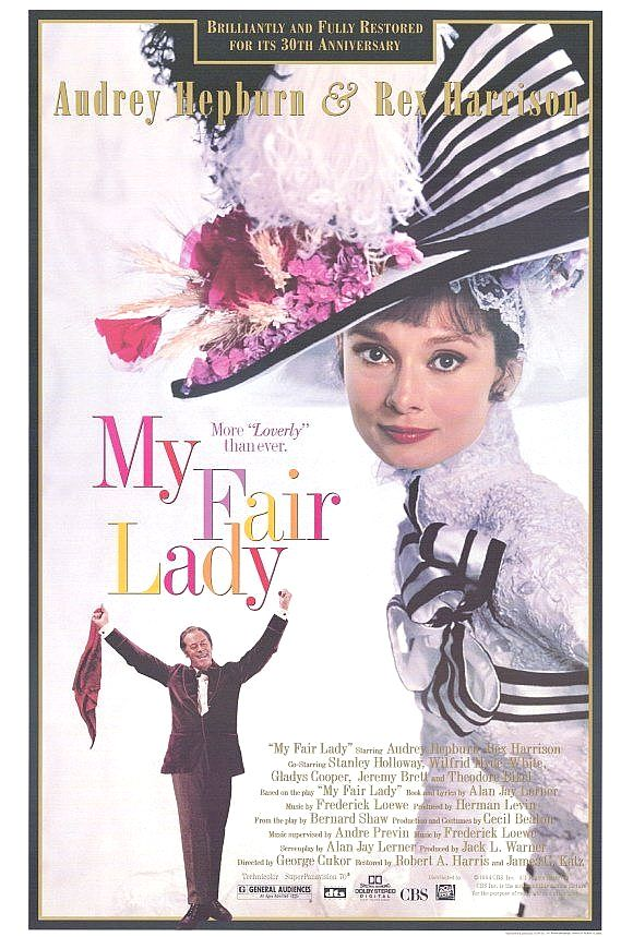 My fair lady poster 27x40 in audrey hepburn eliza doolittle 69x101 ...