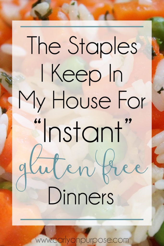 The Gluten Free Staples I NEED in My House for Instant Dinners #glutenfree