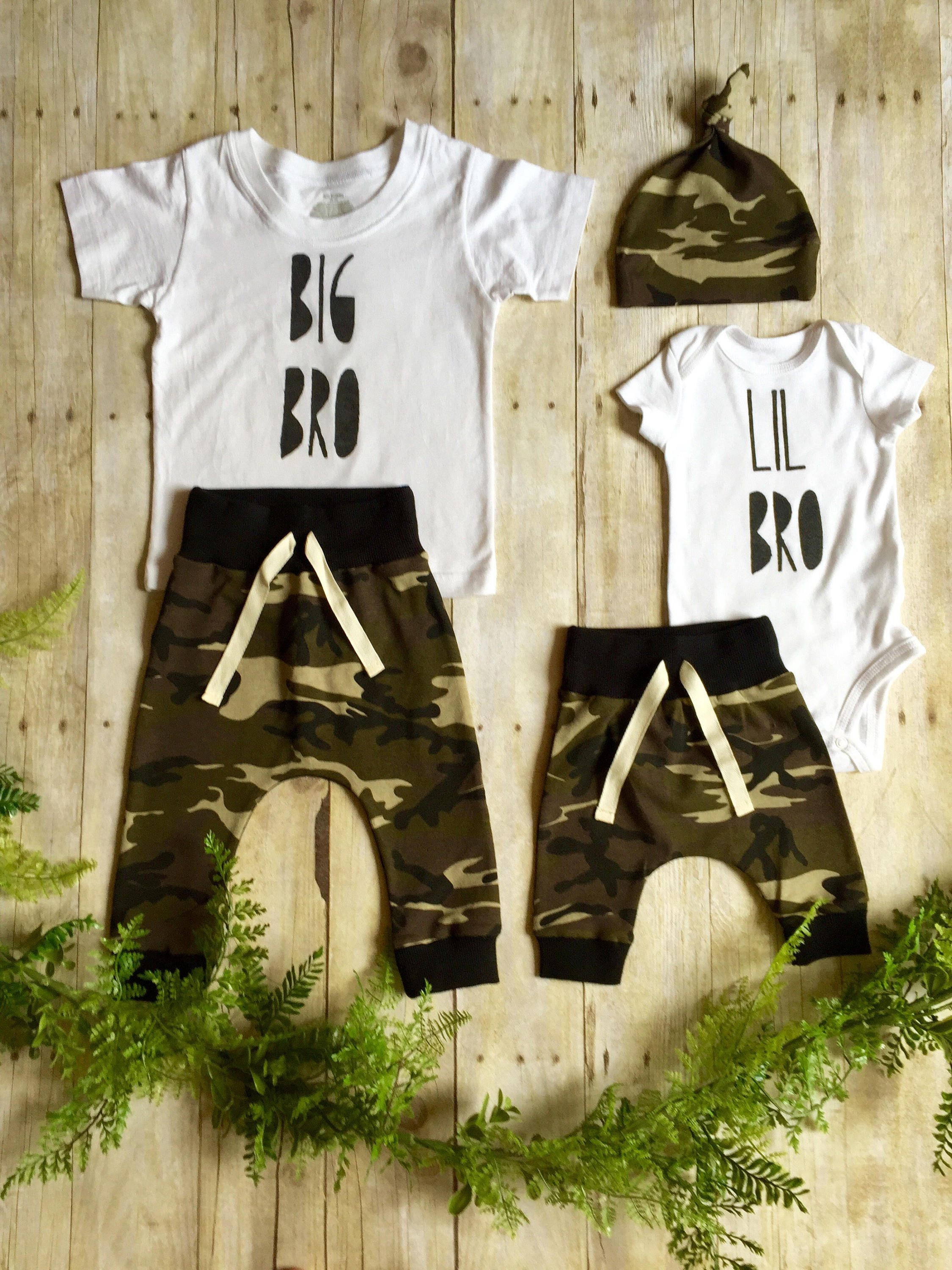 Pants Summer Outfits Set US Matching Clothes Big Brother Little Brother T-Shirt