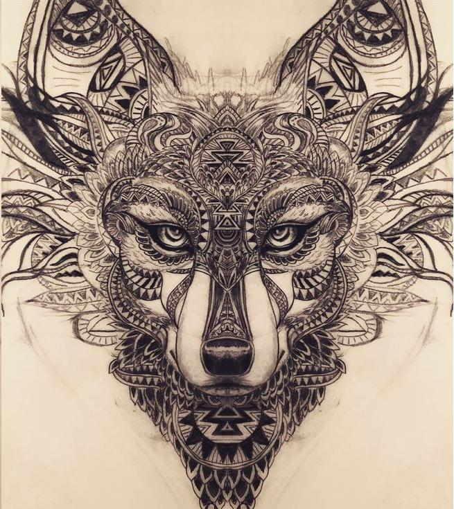 Pics of my favorite geometric tattoos tatouages id es - Tatouage loup mandala ...