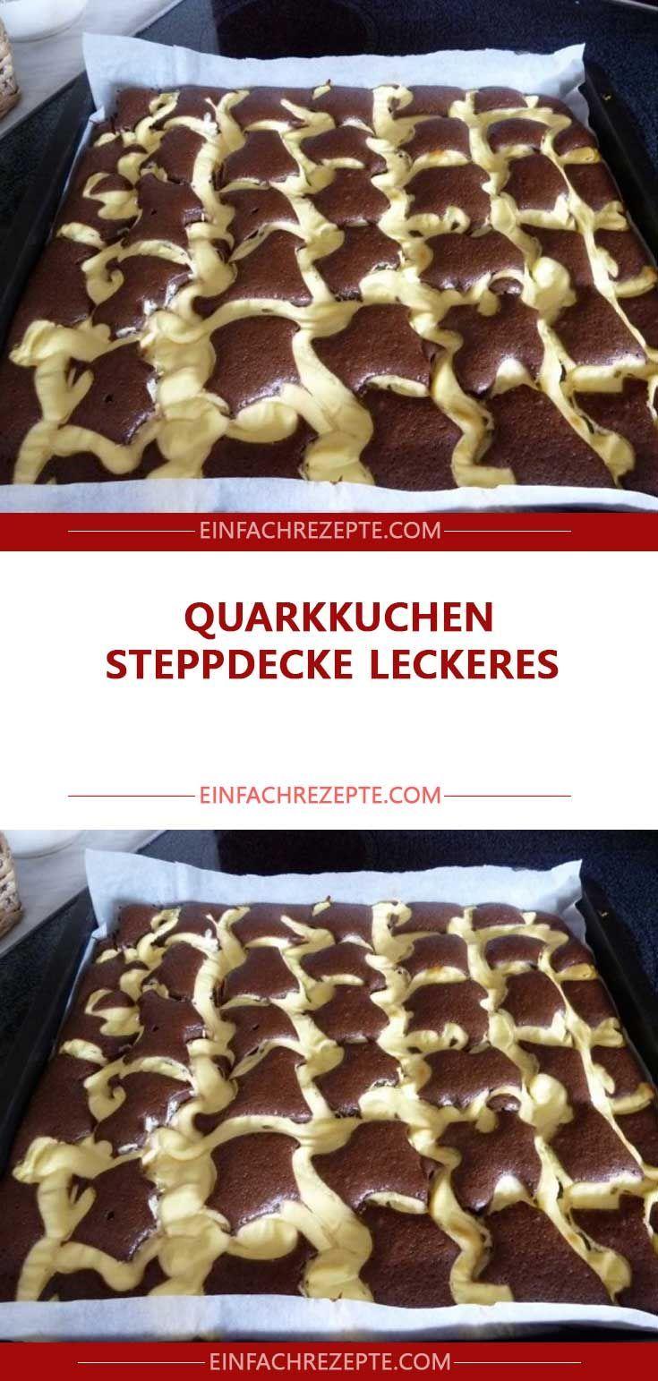 Quarkkuchen Steppdecke leckeres
