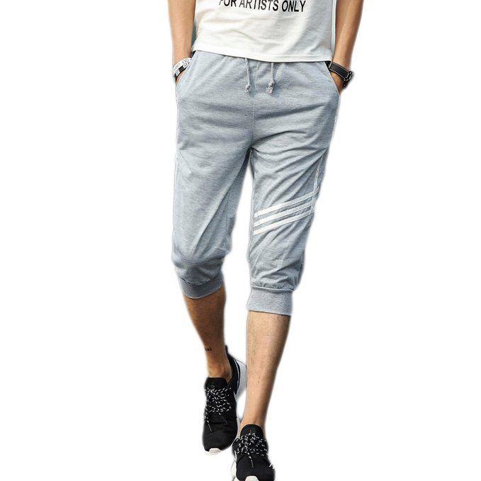 Hombres Pantalones Hippie Harén Pantalones De Deportivos Casual Pantalones Capri 7veo4wcWov