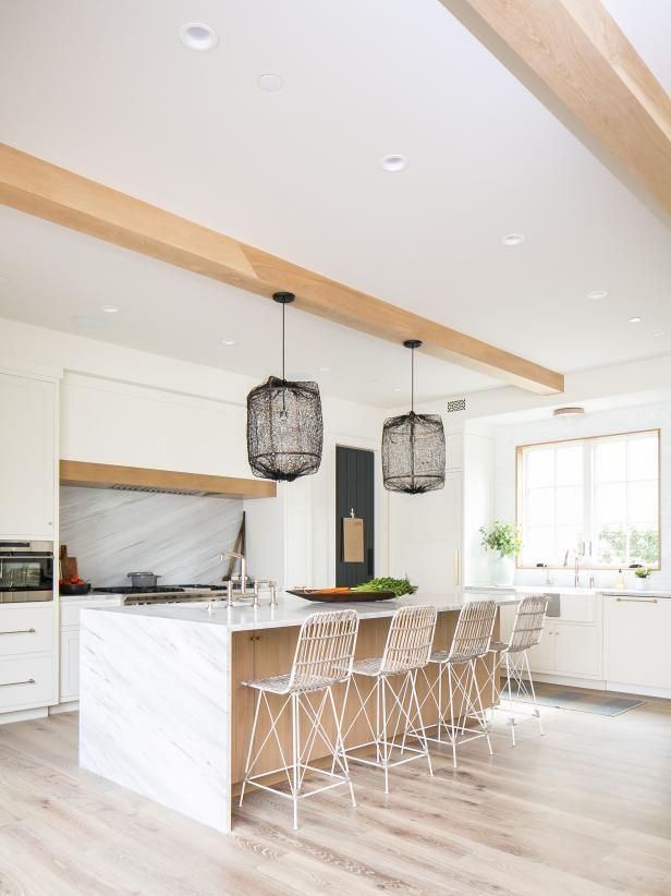 modern white kitchen with farmhouse twist  hgtv faces of