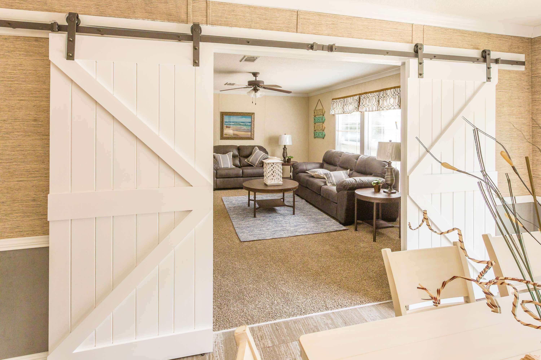 Double Barn Doors White