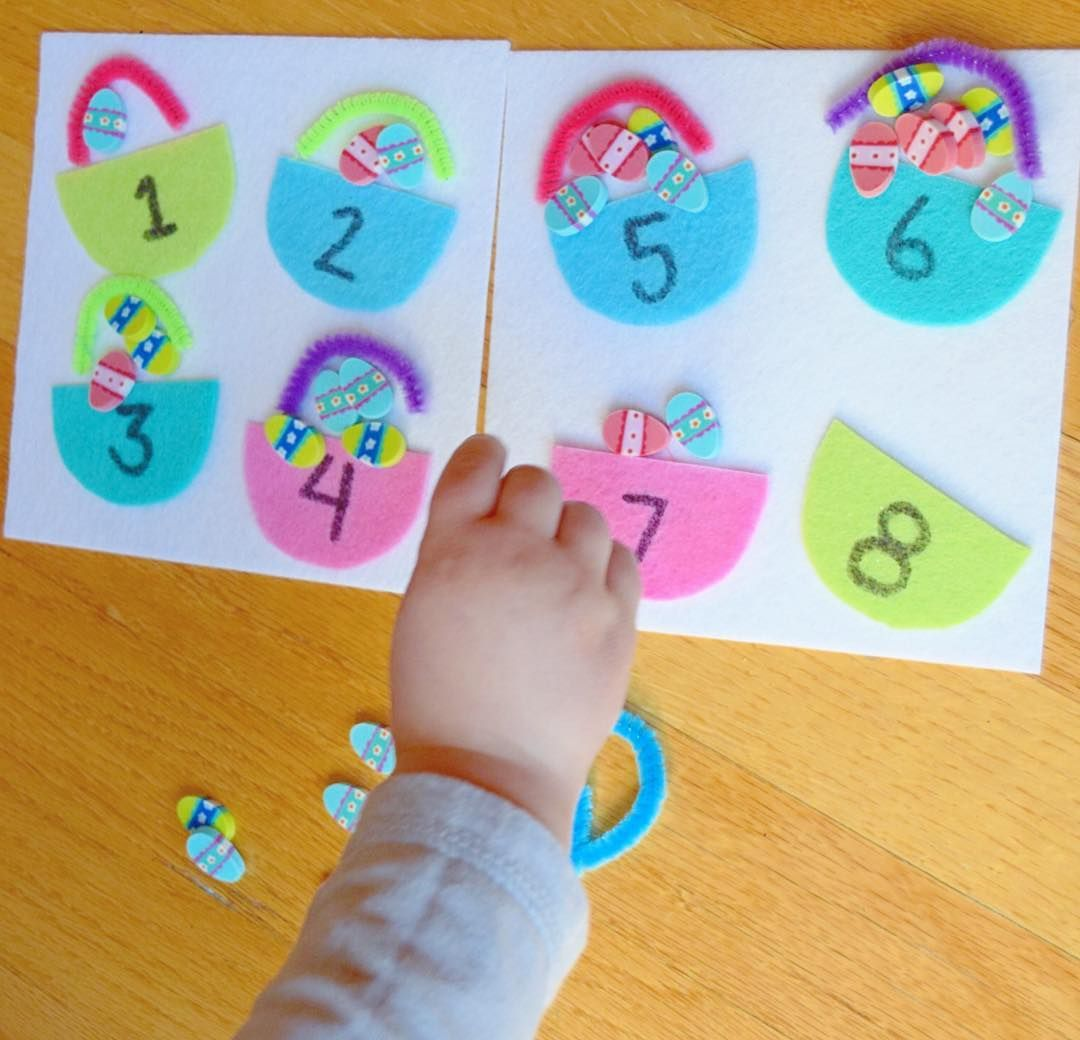 Easter Egg Basket Counting From Molly The Kids Place Via