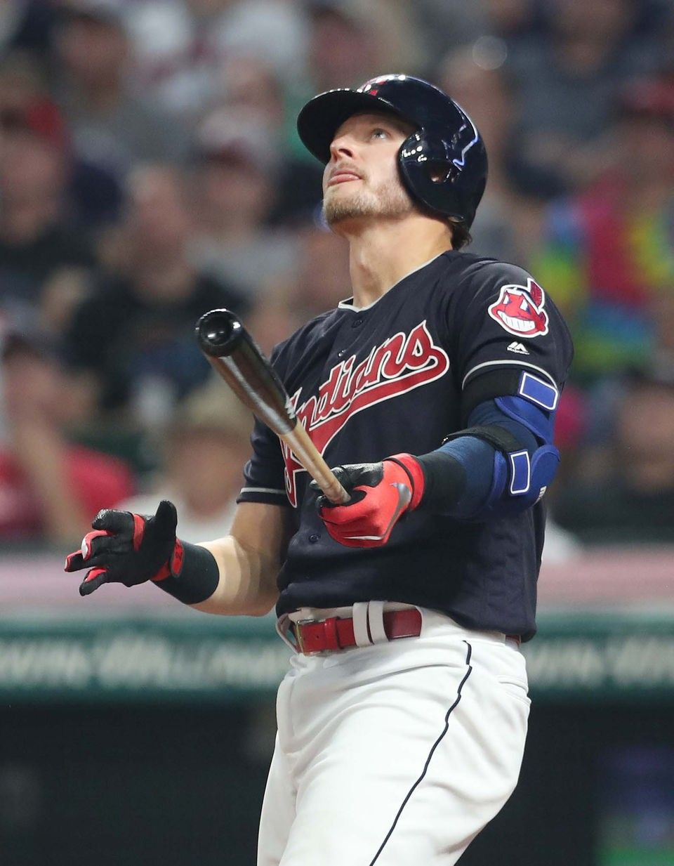 Cleveland Indians Josh Donaldson Watches His Game Tying Solo Home
