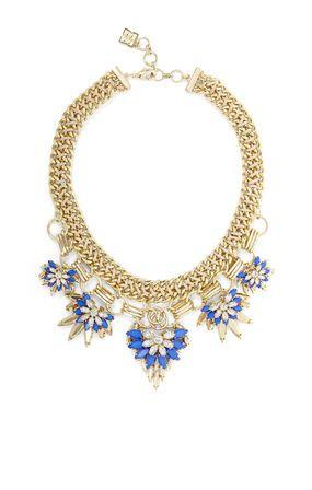 ea299466260 Floral-Stone Chain Necklace