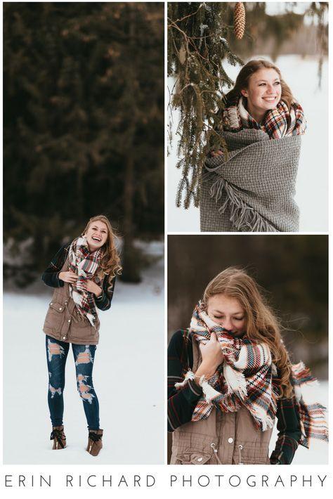 New photography winter girl snow senior photos ideas