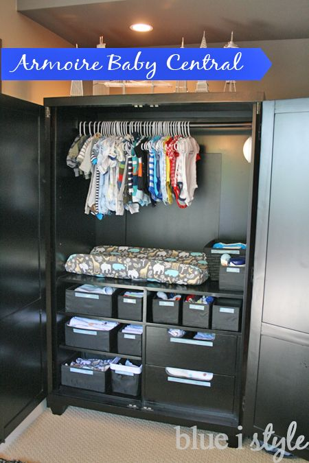 Merveilleux Blue I Style: {organizing With Style} Armoire Baby Central