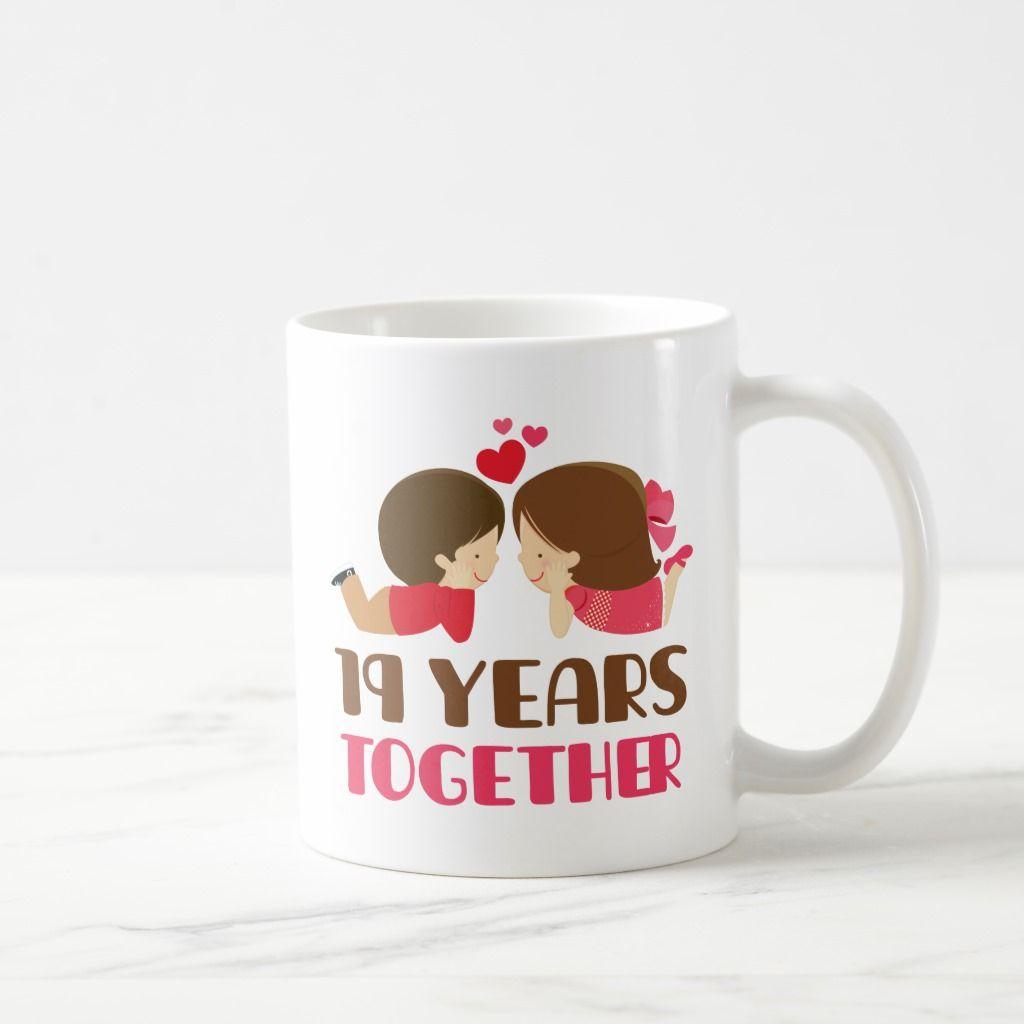 19th anniversary gift for her coffee mug anniversary