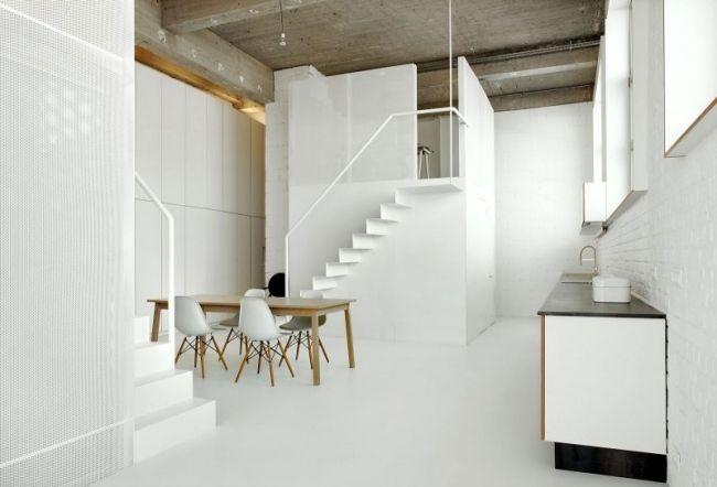 minimalistische küche essberich holz esstisch stühle Loft - kche mit esstisch