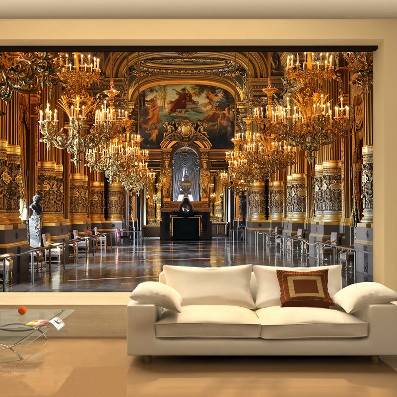Large 3d wallpaper mural european minimalist living room for 3d interior wall murals