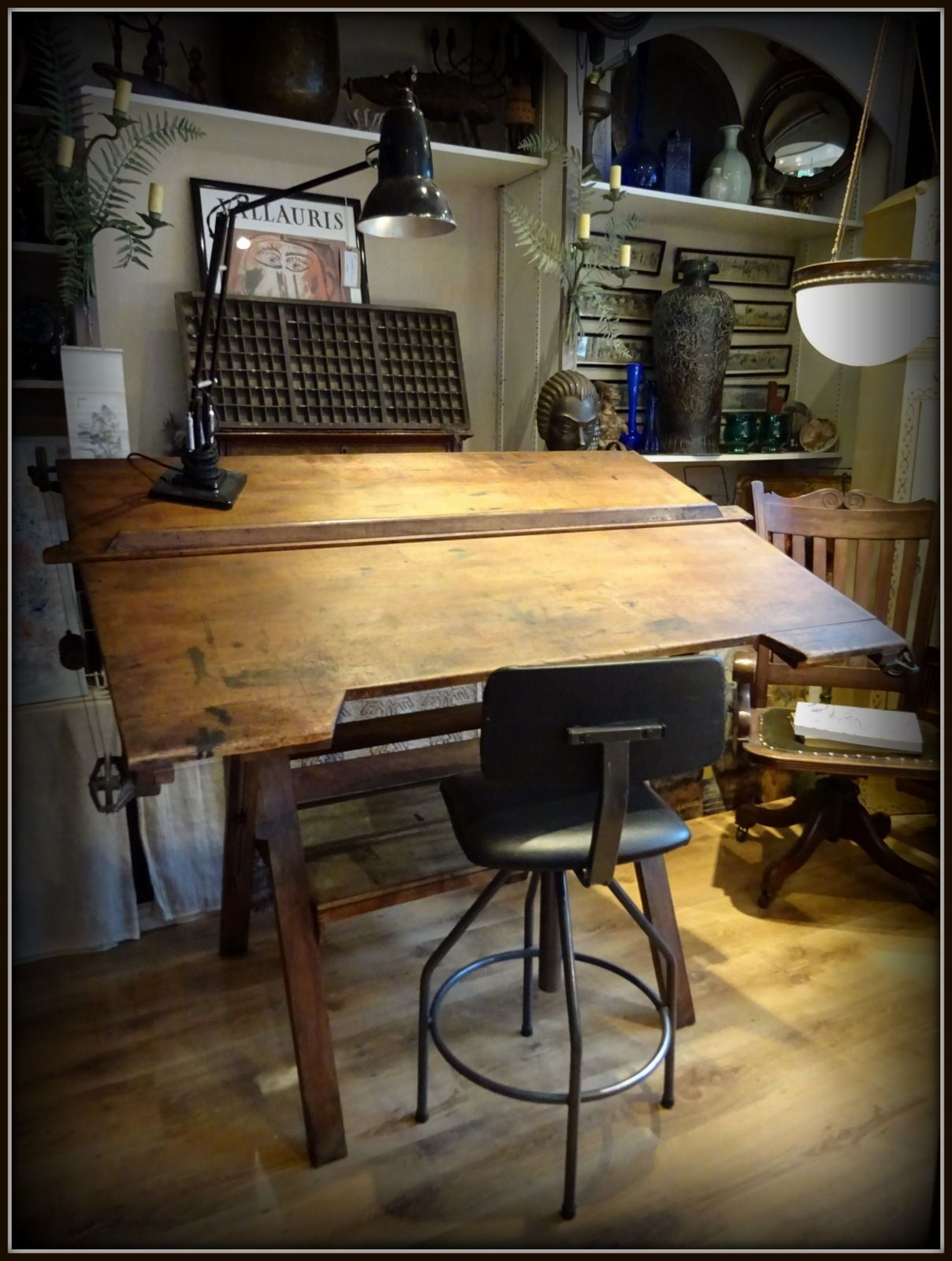 20Th Century Architects antique early 20th century architects drafting drawing board desk