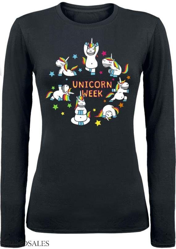 Unicorn Week - Girlie langærmet