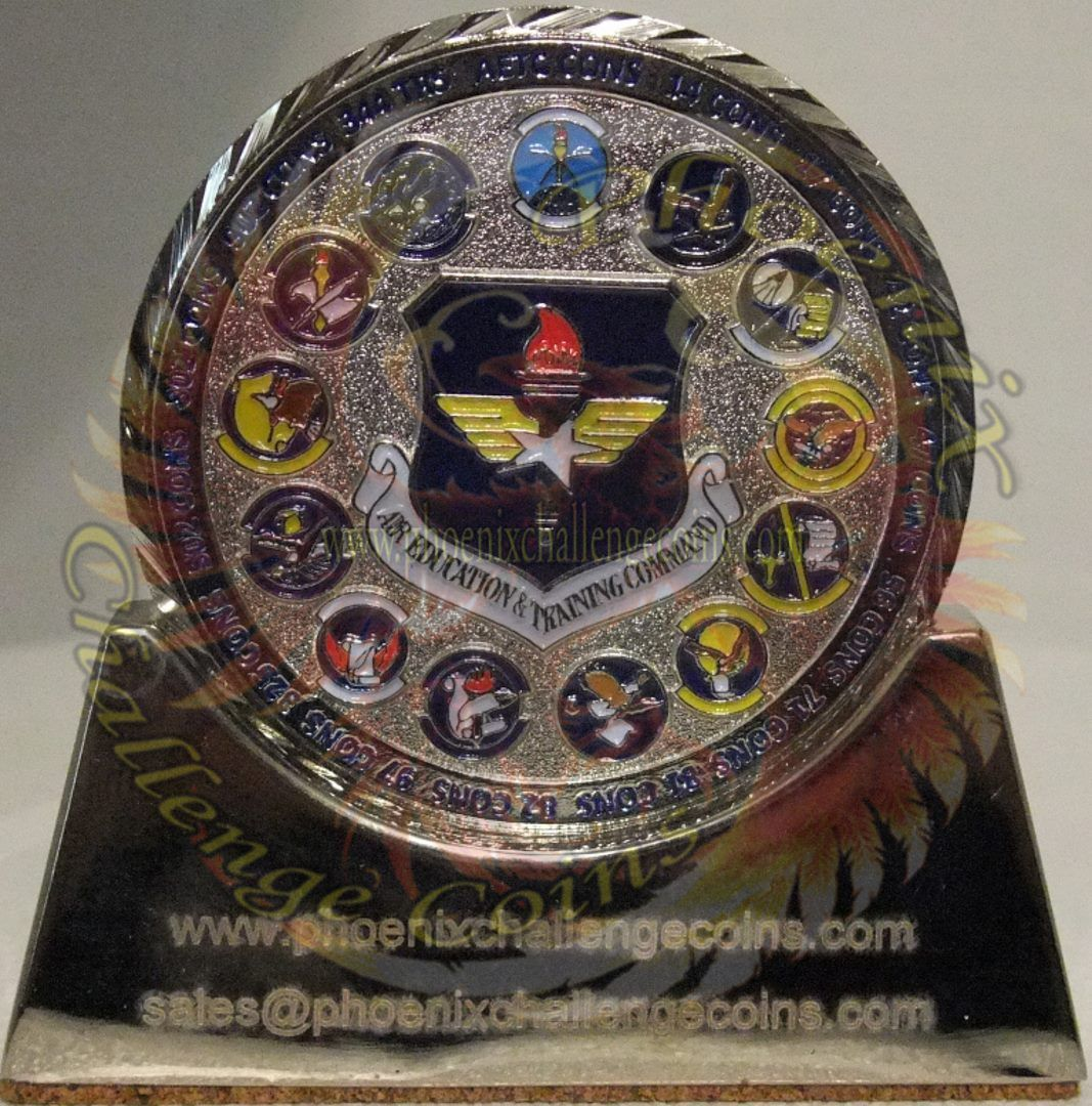 Air Education and Training Command air force coin, custom