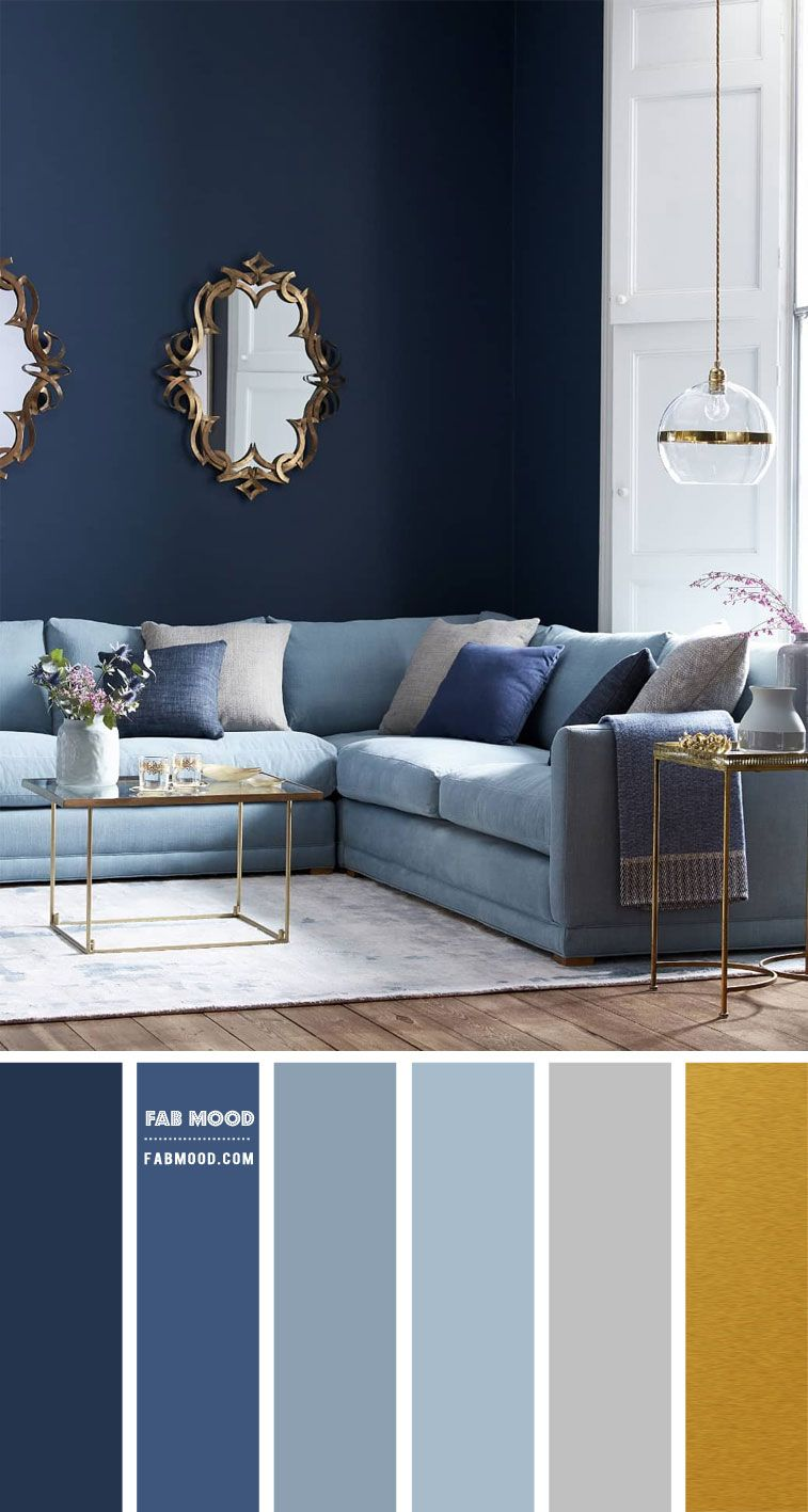Shades Of Blue And Grey Living Room Best Colour Combinations Fabmood In 2021 Blue Living Room Color Blue Walls Living Room Navy Living Room Color Scheme