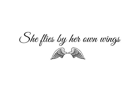 Temporary Tattoo - She flies by her own wings - Quote Tattoo ...