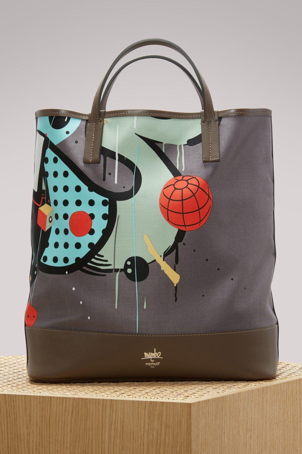 MOYNAT Mambo Printed Bag. #moynat #bags #hand bags #canvas #tote #cotton #