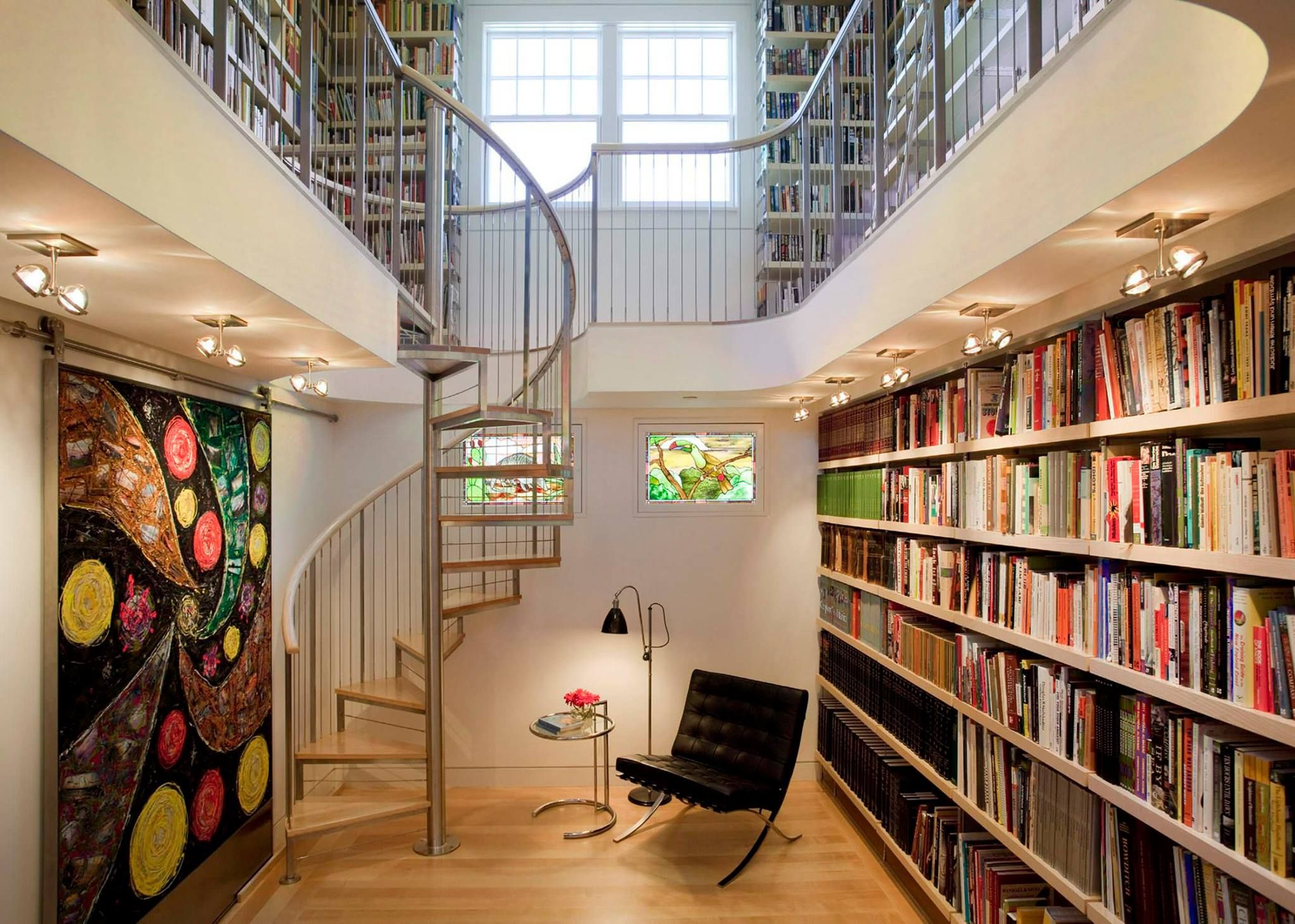 Inpirational Custom Home Library Design Ideas Space Saving Custom Home